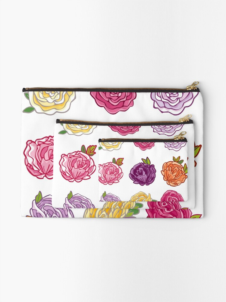 Alternate view of Decorative Roses Zipper Pouch