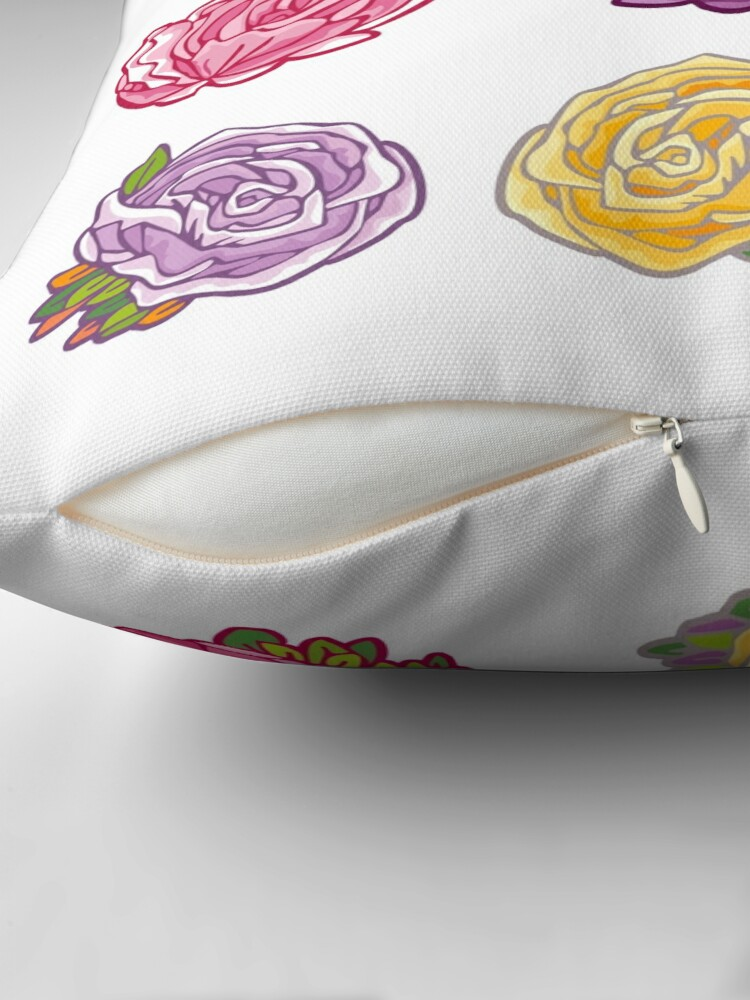Alternate view of Decorative Roses Throw Pillow