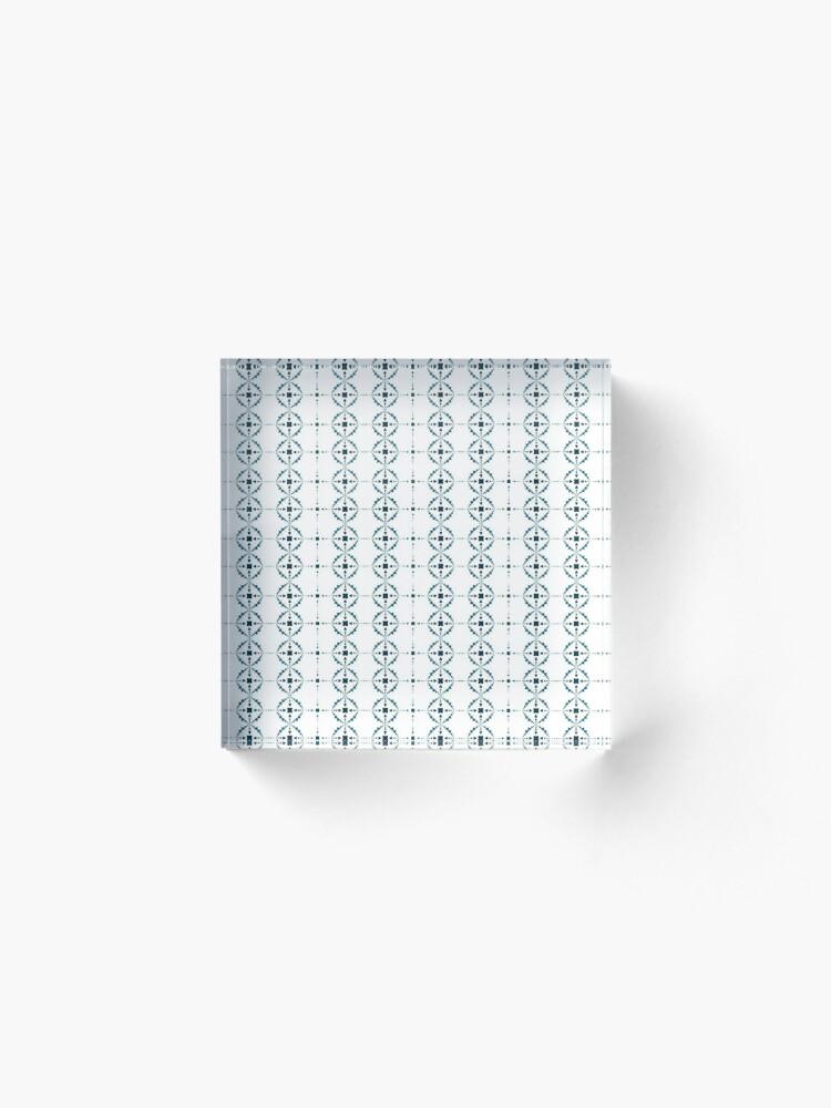 Alternate view of Soft Snowflakes Acrylic Block