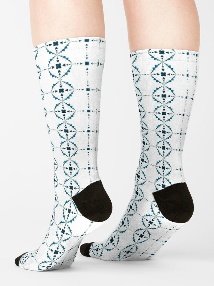 Alternate view of Soft Snowflakes Socks