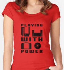 Playing With Power Black Women's Fitted Scoop T-Shirt