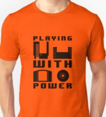 Playing With Power Black Unisex T-Shirt