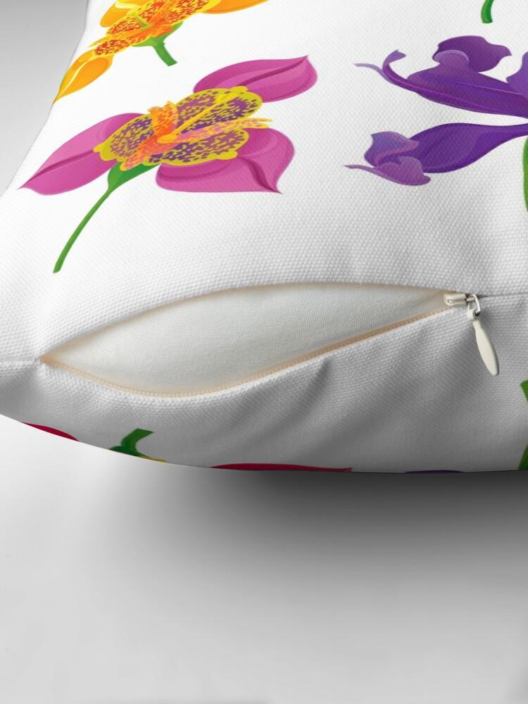 Alternate view of Tigridia & Iris Throw Pillow