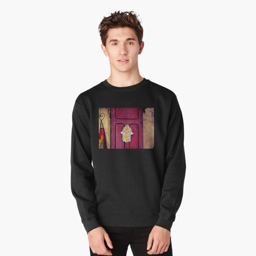 HAMSA, Hand of Fatima,  Pullover Sweatshirt