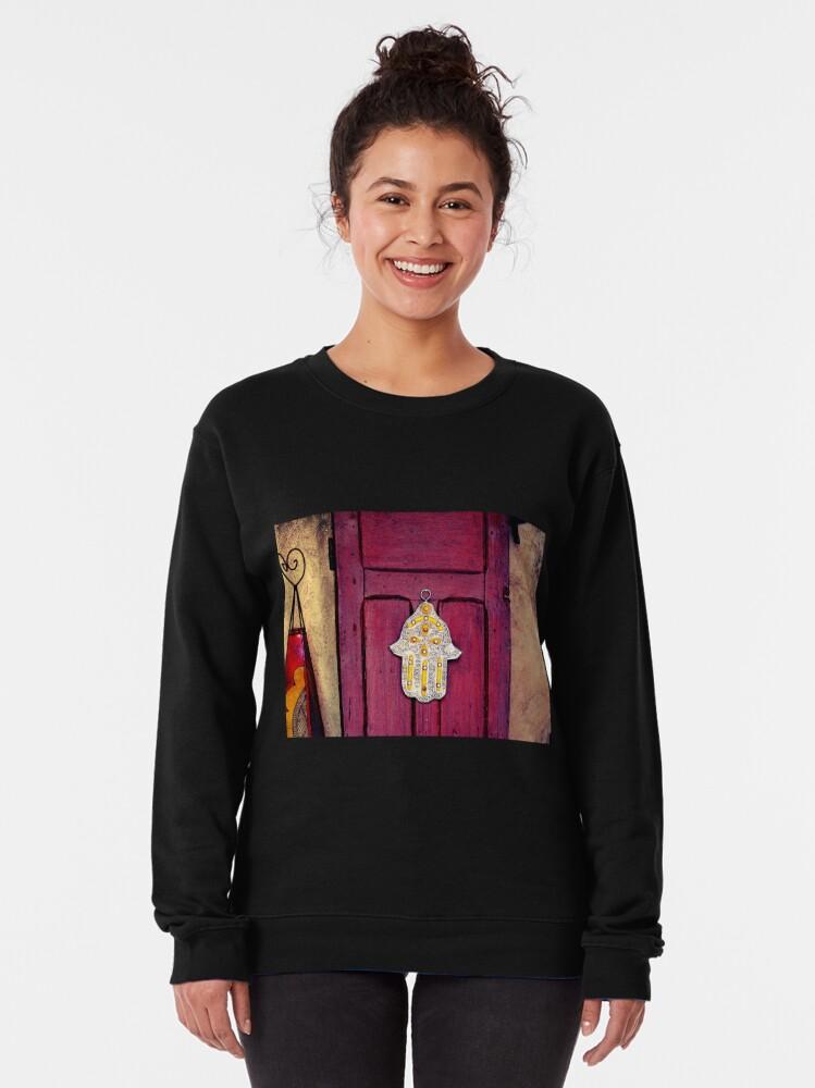 Alternate view of HAMSA, Hand of Fatima,  Pullover Sweatshirt