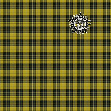 Supernatural Anti-possession symbol on PLAID in YELLOW by stormthief19