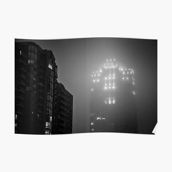 Minneapolis Fog Poster
