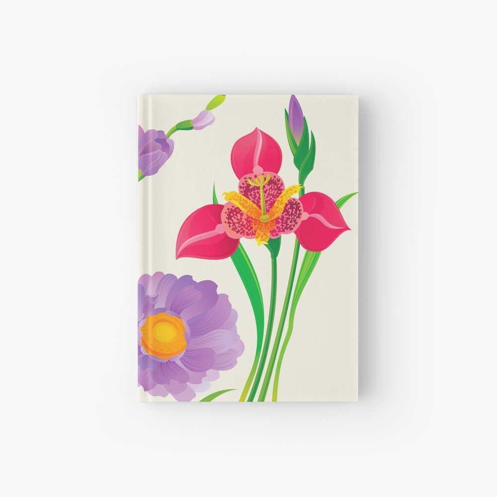 Spring Flowers Hardcover Journal