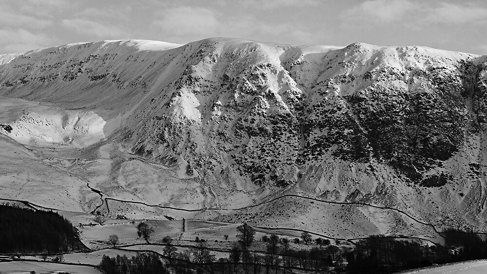 Great Dodd in Winter, Lake District National Park. by Lou Wilson