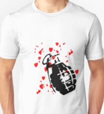 hearts and a hand grenade Unisex T-Shirt