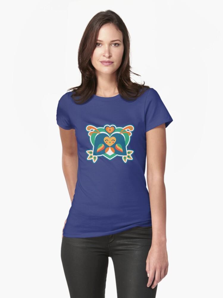 Love Birds Womens T-Shirt Front
