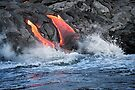 Lava Flow at Kalapana 15 by Alex Preiss