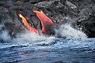 Lava Flow at Kalapana 15 by Alex Preiss