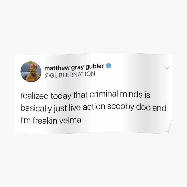 matthew gray gubler tweet Poster