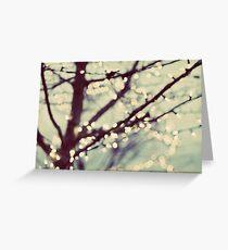 tree of lights Greeting Card