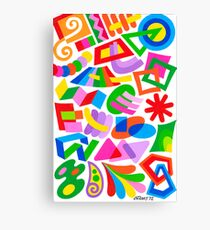 PLAYFUL FIGURES Canvas Print
