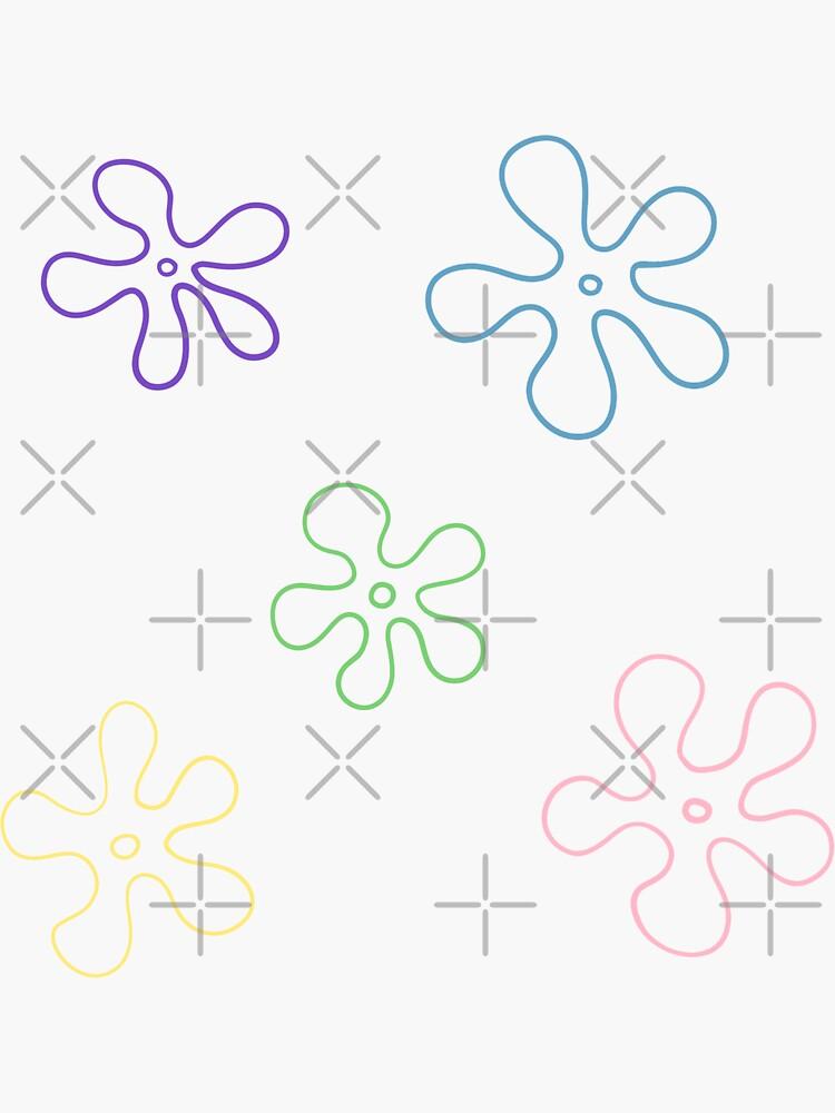 sponge bob flower pack by emily-rooney