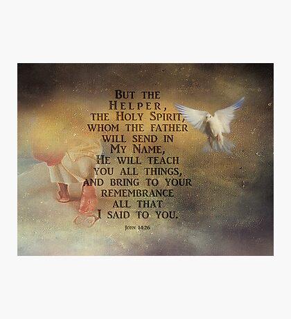 The Helper-John 14:26 Photographic Print