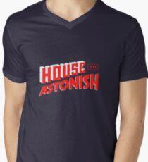 House to Astonish – Red Logo Mens V-Neck T-Shirt