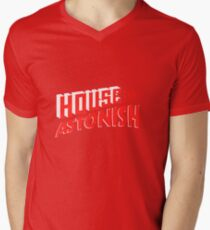 House to Astonish – Red Logo Men's V-Neck T-Shirt