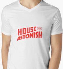 House to Astonish – Red Logo Men's V-Neck T-Shirt