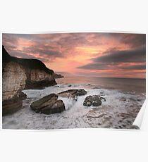 Thornwick Bay Sunrise 2 Poster