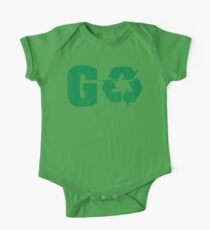Earth Day Grunge Go Recycle One Piece - Short Sleeve