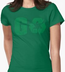 Earth Day Grunge Go Recycle Women's Fitted T-Shirt