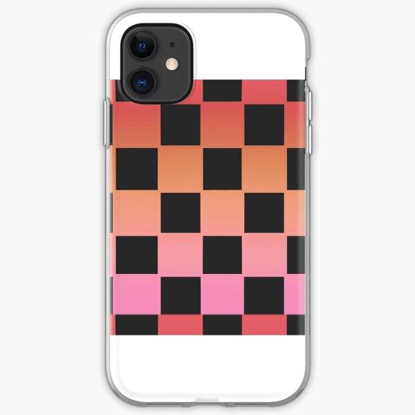 Sunburst checkers iPhone Soft Case