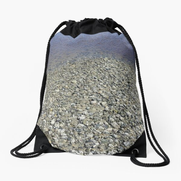 Beach Rocks 4 Drawstring Bag