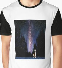 Calvin And Hobbes In The Night Graphic T-Shirt