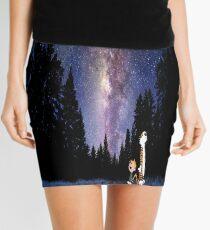 Calvin And Hobbes In The Night Mini Skirt