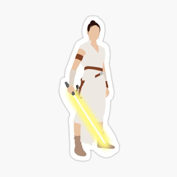 Lightsaber Girl Sticker