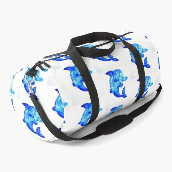 Cartoon Dolphin Duffle Bag