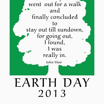 Earth Day 2013 John Muir by HolidayT-Shirts