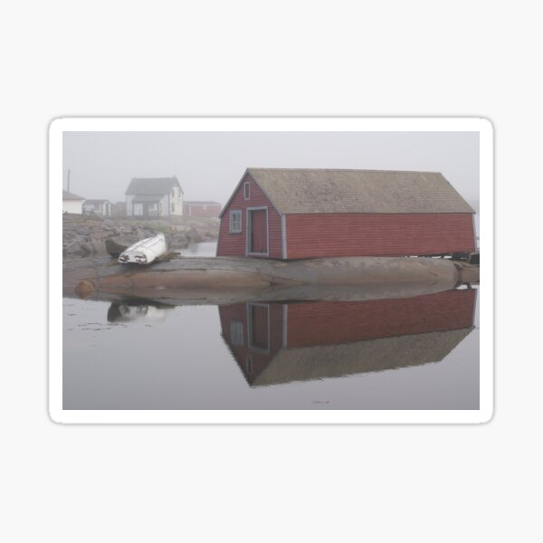 Foggy morning, Fogo Island Sticker