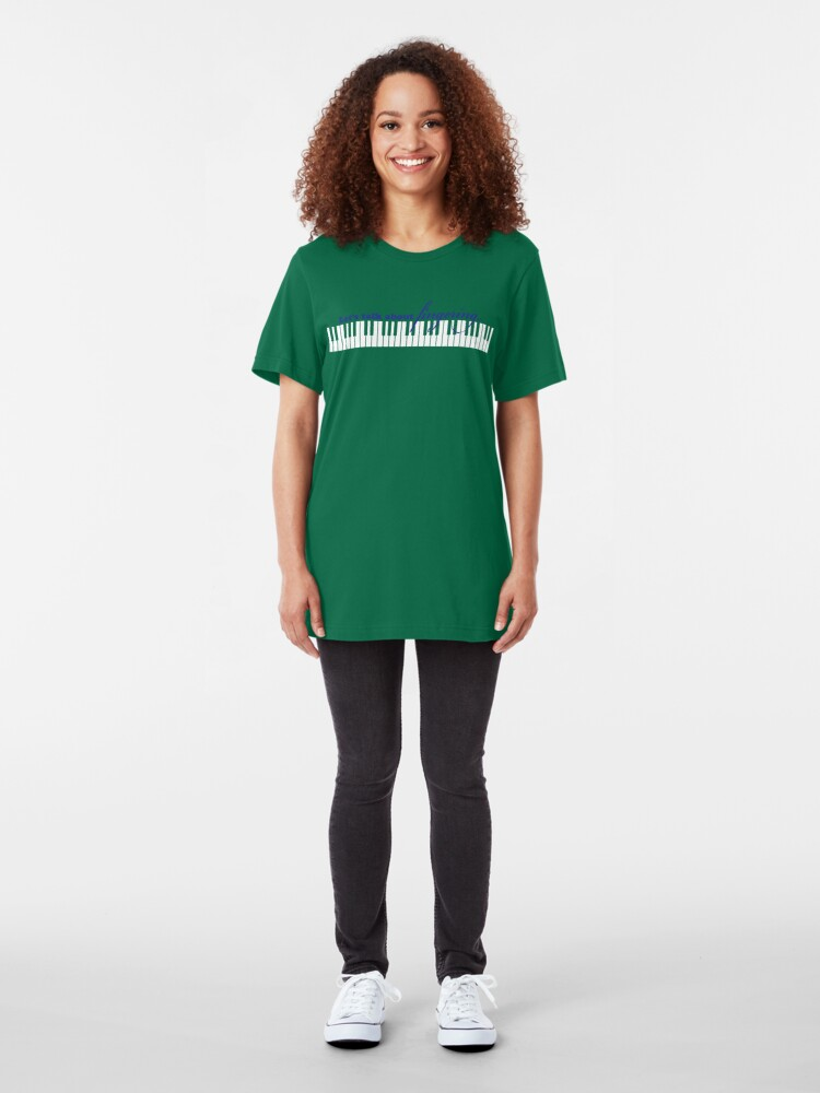 Alternate view of Lets talk about fingering... Slim Fit T-Shirt