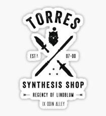 Torres Synthesis Shop Sticker