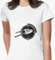 UFO logo Womens Fitted T-Shirt
