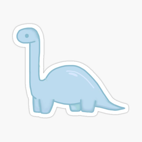 Blue Dino Sticker