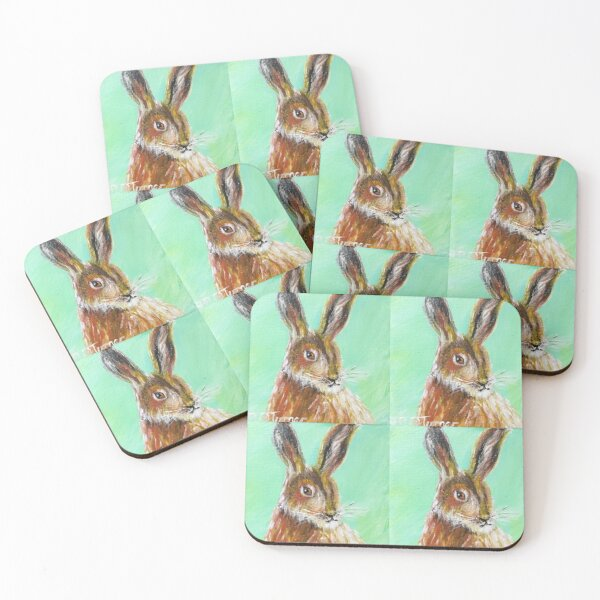 Hare Coasters (Set of 4)