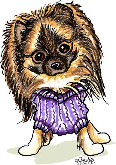 Plum Cute Pomeranian by offleashart