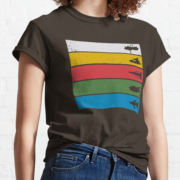 Thunderbirds Classic - Birds Silhouettes on Stripes Classic T-Shirt