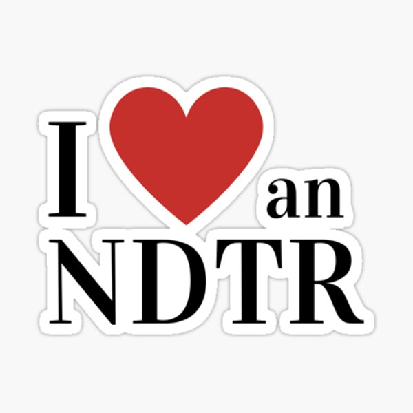 I Love An NDTR Sticker