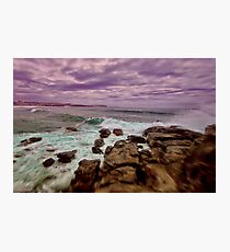 Turbulent Manly Shore Photographic Print