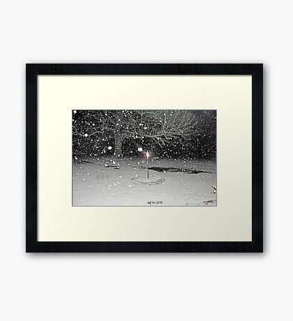 Falling Snow Framed Print