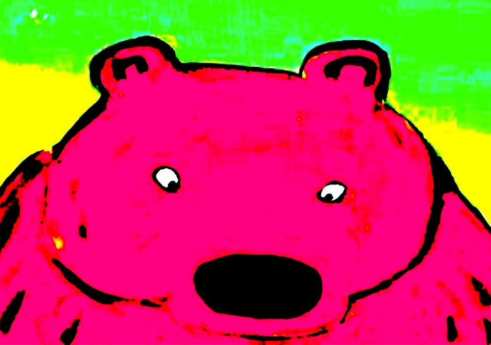 BIG PINK BEAR by paulvolker