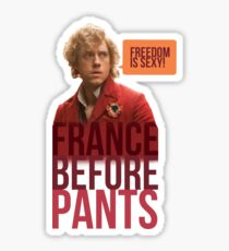 France before pants! (That means you, Grantaire) Sticker