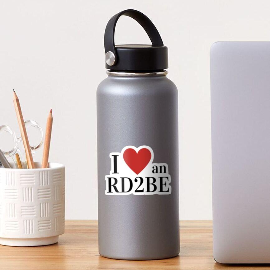 I Love An RD2Be Sticker