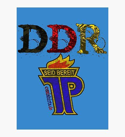 DDR - JP Emblem (black-red-gold) Photographic Print